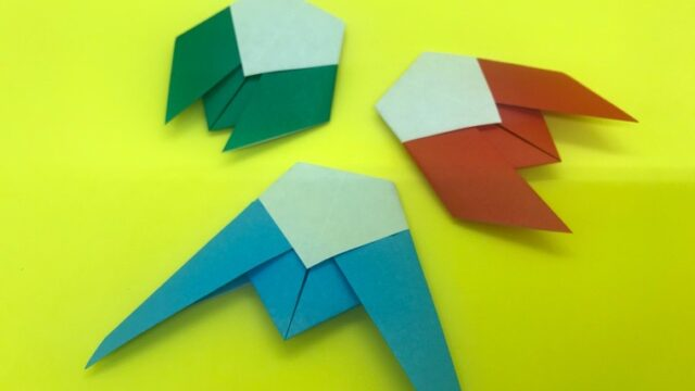 せみの折り紙_7