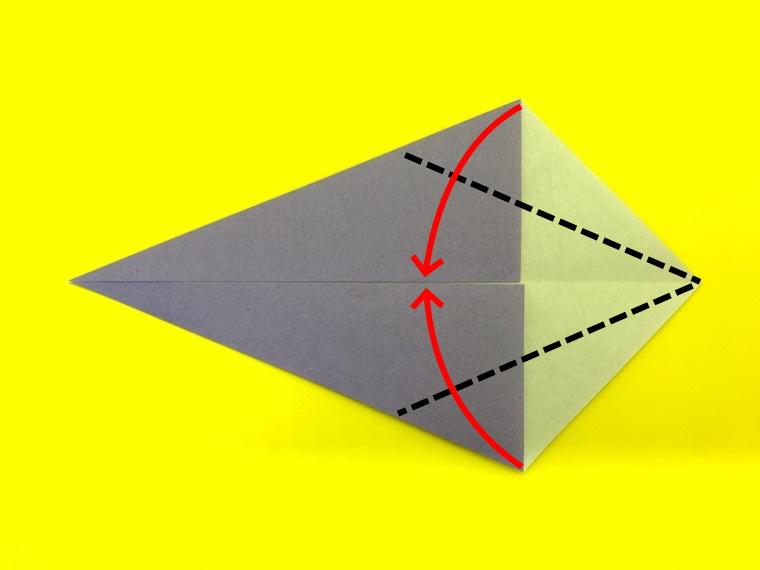 ハトの折り紙_5