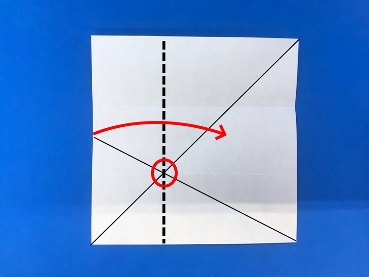 折り紙の三等分の折り方_12
