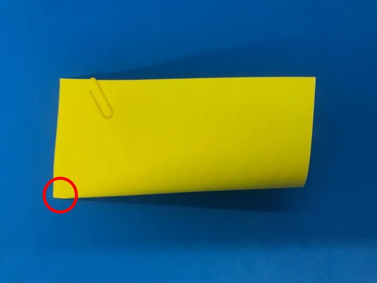 折り紙の三等分の折り方_4