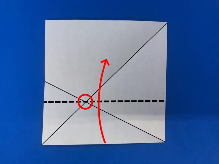 折り紙の三等分の折り方_7